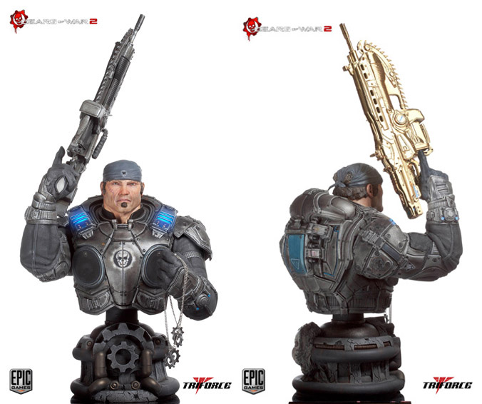 Triforce - Marcus Fenix Epic Scale Bust
