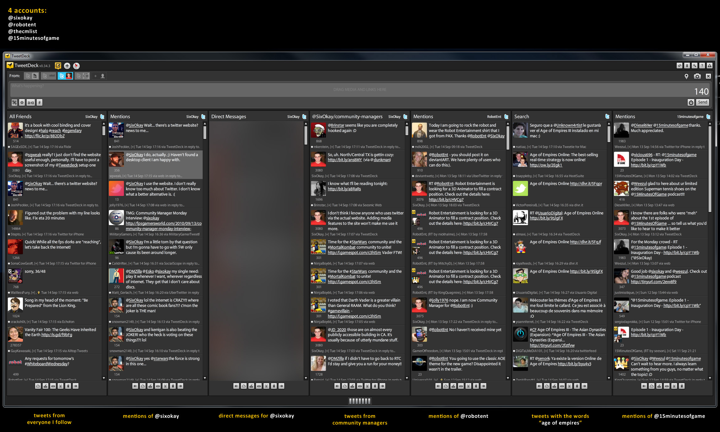 My TweetDeck Layout
