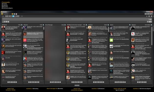 My TweetDeck Layout